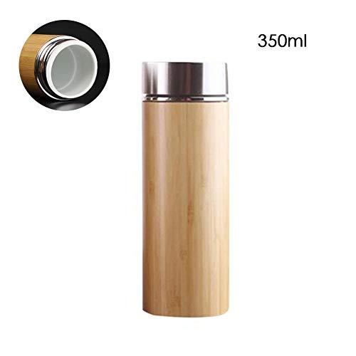 Basisago Natürlicher Bambus Thermobecher Vakuumisolierte Reiseflasche Auslaufsicher