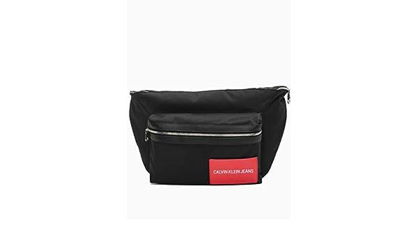 CALVIN KLEIN JEANS - Black oversized bum bag  Amazon.fr  Bagages a82cf1e81ce