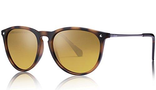 Carfia Vintage Polarisierte Damen Sonnenbrille Fahrer Brille 100% UV400 Schutz für Autofahren Reisen Golf Party und Freizeit - Ultraleicht Rahmen (Braun-2)