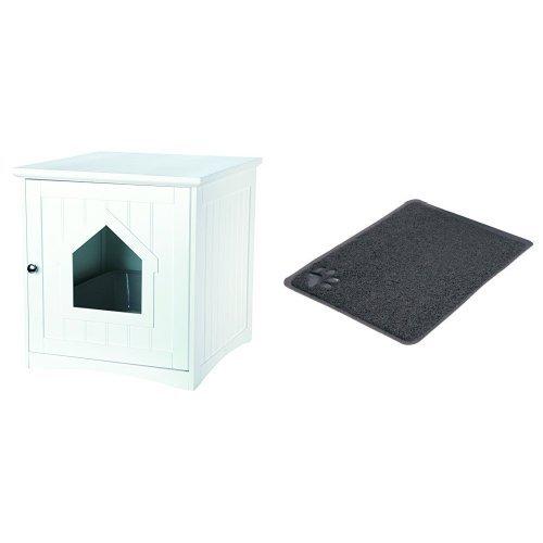 Trixie Katzenhaus Vorleger für Katzentoiletten, PVC, 45 × 37 cm, anthrazit