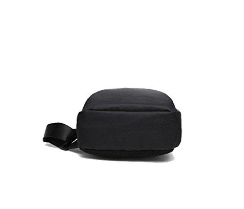 BULAGE Taschen Männer Taille Brust Taschen Lässig Vielseitig Einfach Tasche Mini Rucksäcke Oxford Black