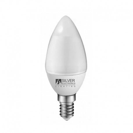Silver Electronics 1970414 LED Eco bougie E14, 4 W, Blanc