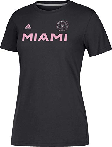 adidas Damen Team-T-Shirt Inter Miami CF MLS Soccer Futbol, Damen, schwarz, Large