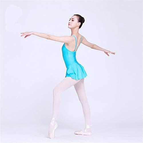 Cotangle Mädchen Gymnastik Trikots Frauen Ballett Tanzkleid Trikot Tutu Rock Ballerina Dancewear Kostüm (Farbe : Blau, Größe : - Ballerina Kostüm Frauen