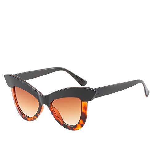 FRAUIT Gafas de Sol de Mujer Gafas de Sol de Ojo de Gato Vintage Gafas Retro Gafas de Sol de Vacaciones Gafas de Sol de La Calle Gafas de Sol Salvajes
