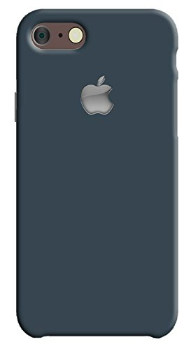 Back cover for Apple iPhone 7 | Designer case |Plain simple dark grey color with apple logo iPhone 7 case| 3D Premium quality Single color, Matte Finish,Poly-Carbonate hard plastic)