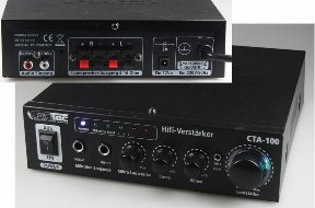 ChiliTec 100 Watt HiFi-Verstärker Kompakt Cinch In Stereo CTA-100