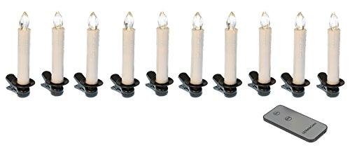 Idena LED Weihnachtsbaumkerzen Set mit 10 kabellosen Kerzen inklusive Infrarot Fernbedienung, warmweißes Licht 31102 - 4