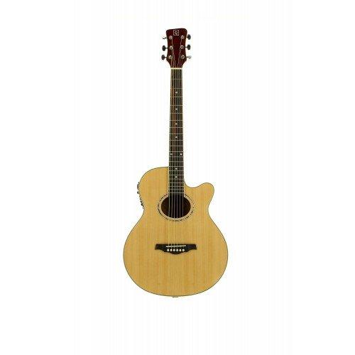 Oqan - Guitarra electro-acústica cutaway qga-40ce