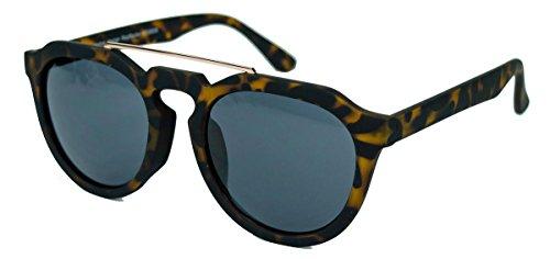Retro Sonnenbrille in Pantoform Pantobrille für Damen Herren Metal Bridge Metallsteg FARBWAHL MB36 (Hornbrille matt)