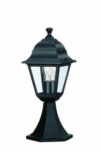 Massive Lima - Pedestal, iluminación Exterior, Aluminio, 60 W, 230 V, Color Negro