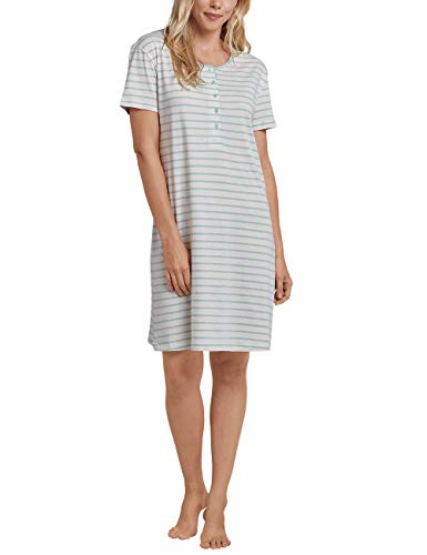 Schiesser Damen Sleepshirt 1/2 Arm, 90cm Nachthemd, Beige (Creme 408), 42 (Herstellergröße: 042) -