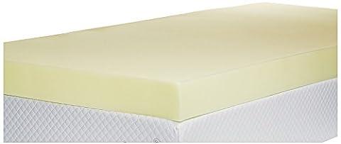 Memory Foam Mattress Topper, 4 inch - UK Single