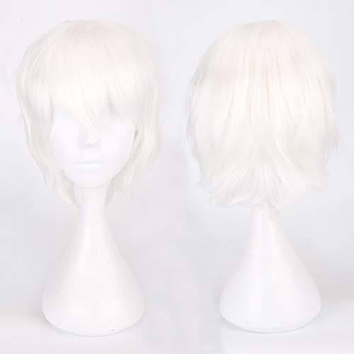 amen Mehrfarbig Kurz Glattes Haar Perücke Anime Party Cosplay Volle Verkauf Perücken 35cm ()