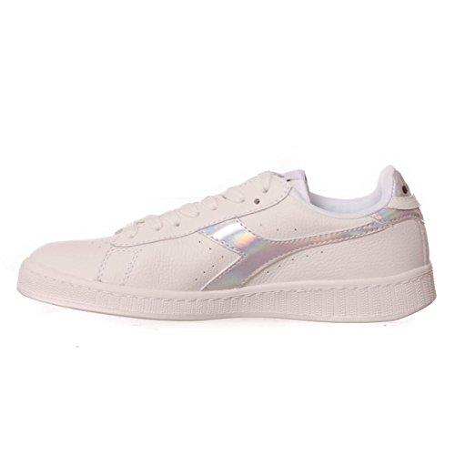 Diadora Game Hologram, Sneaker Bas du Cou Mixte Adulte white