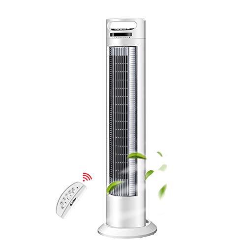 FANS MAZHONG Vertikale Fernbedienung Bodenventilator Negative Ionenschütteln Kopf Ohne Blatt Turmventilator kann gekippt Werden 12 ° -40 Watt