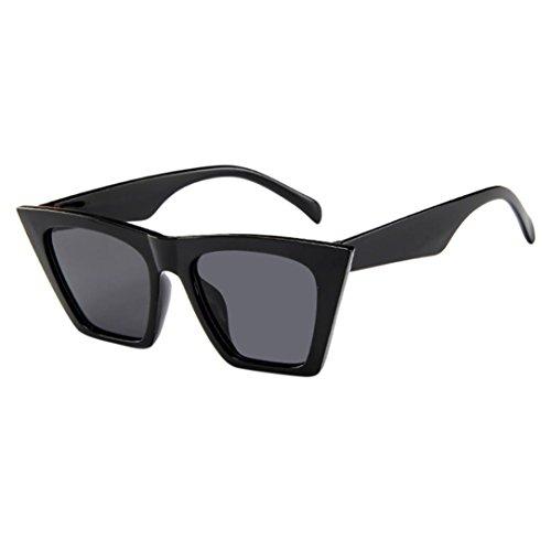 Solike Sonnenbrille für Damen Retro Look Cateye Groß Plastik Rahmen Nerd Brille Kunststoff Brillen...