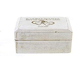 Geschenkbox, Geschenkschatulle Holz mit Gravur, Text, Namen, Motiv für Geldgeschenke Schmuck-Aufbewahrung