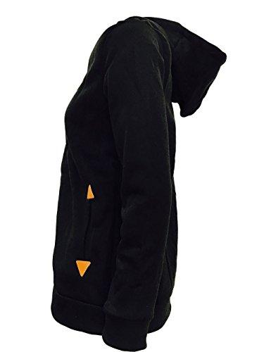 MTTROLI Damen Kapuzenpullover X-Large Schwarz