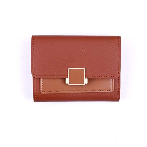 Casual Damen Snap Kurze Brieftasche weibliche Multi-Card Position Farbe passenden Kartenbeutel Geldbörse braun Camouflage Snap