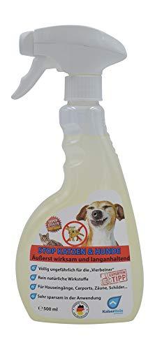 STOP Hunde und Katzen 0,5 L (500 ml) Hunde und Katzen Stop unser fernhalte Spray Spray Hunde Fernhaltespray Katzen Fernhaltespray Ungefährlich für die Tiere