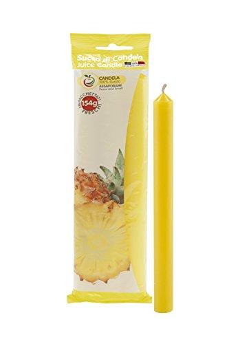 Scheda dettagliata Cereria di Giorgio Succo Candele Profumate alla Frutta, Cera, Giallo, 1.9x1.9x20 cm, 3 unità