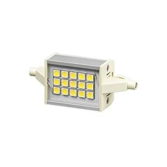 Lampe LED R7S 78 mm 4W 230V blanc chaud 320 Lumens