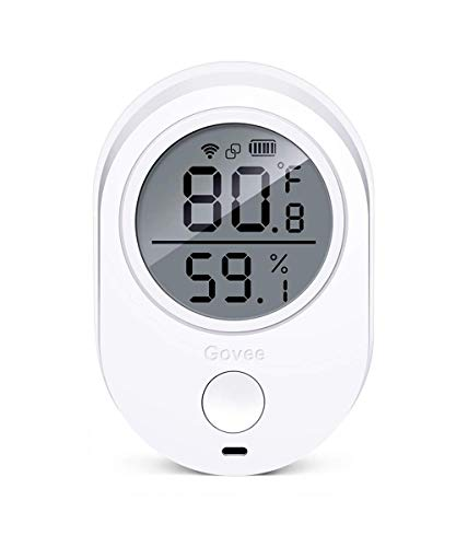 Govee WiFi Thermometer, Digital Innen thermometer, Temperatur Luftfeuchtigkeit Monitor, Wireless Hygrometer, Wireless Temperatur sensor mit Alarmen für iPhone / Android -