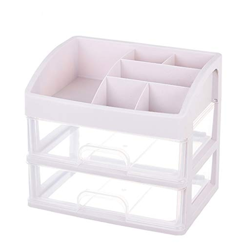 KKY-ENTER Type de tiroir multicouche Boîte de rangement pour cosmétiques En plastique Simple Rouge à lèvres Bijoux Produits de soin de la peau Boîte de stockage Affichage ( taille : 27.5*20*23.5cm )