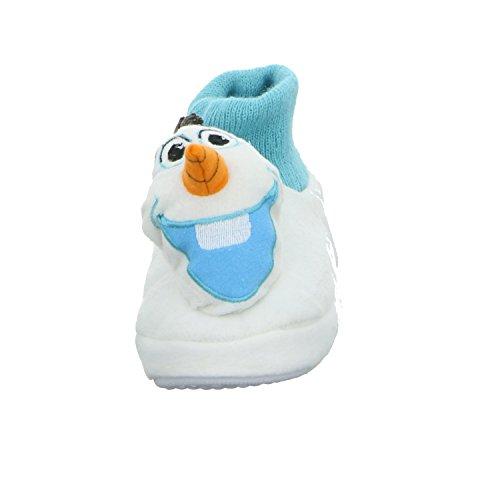 Frozen A15W1086 Mädchen Fun Hausschuh Weiß (Weiß)