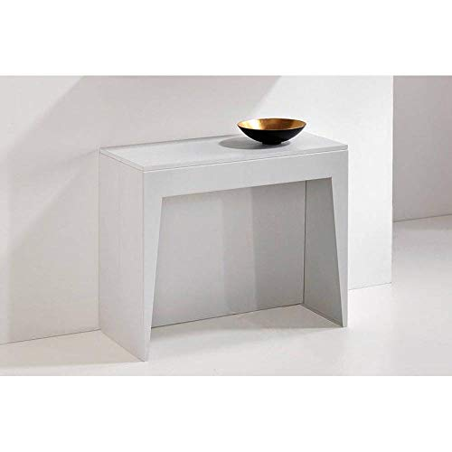 PEZZANI Konsole ausziehbar Cosmic weiß matt - Erweiterbar Konsole Tisch