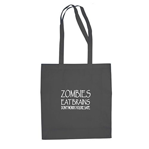 Planet Nerd Zombies eat Brains - Stofftasche/Beutel, Farbe: grau - Dvds Walking Box-sets Dead