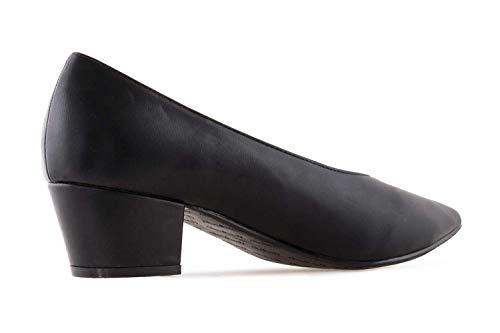 Bild von Andres Machado Pumps in Übergrößen Schwarz AM5320 Soft Negro große Damenschuhe