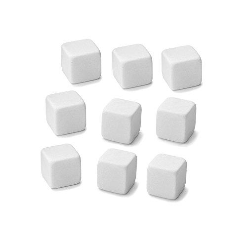 House of Quirk Set of 9 White Reusable Ice Cubes for Juice, Wine, Whiskey, Beer and other beverage