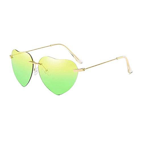 Vovotrade New Retro Love Ocean Piece Sonnenbrille Street Beat Pfirsich herzförmige Sonnenbrille Mode cool, Urlaub unerlässlich (F)