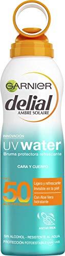 Garnier Delial Bruma Protectora Refrescante UV Water Cuerpo y Rostro IP50+ - 200 ml