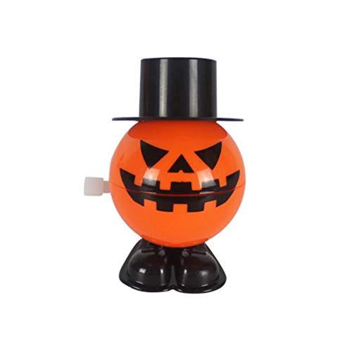 Ballylelly Halloween-Dekoration-Halloween-Springender Kürbis mit der Kappe, die Kürbis-Partei-Kinderbevorzugungs-Spielzeug-Wind-Upspielzeug-Lächeln-Gesichts-Kürbis-Halloween-Bevorzugung bewegt