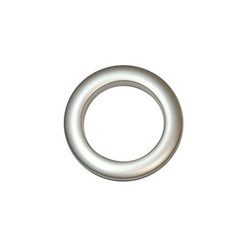 Oeillets à clipser pour rideaux coloris Argent Mat - diamètre 55 mm - lot de 8