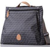 PacaPod Lewis schwarze Baby Wickeltasche–Luxusstasche mit Schwarzem Muster 3-in-1-Aufbewahrungssystem mit Rucksackriemen