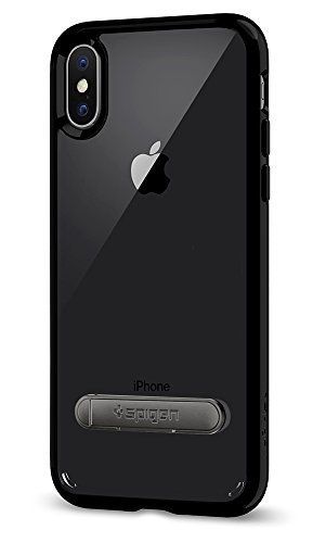 Cover iPhone X, Spigen [Ultra Hybrid S] Custodia iPhone X con tecnologia Cuscino daria e supporto magnetico in metallo per Apple iPhone X (2017) - Rose Crystal - 057CS22134 Jet Black