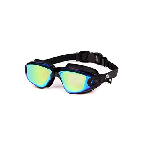 Qiaoxianpo01 Schutzbrillen, wasserdichte und beschlagfreie Myopiebrillen, farbenfrohes integriertes Ohrhörer-Design, Schwarz (Color : Black)