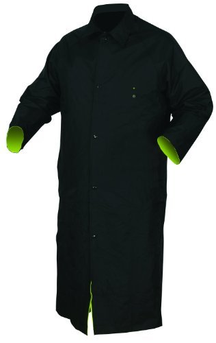 MCR Safety 7368CRX2 Luminator PVC/Nylon Reversible Coat with 2-Inch Silver Stripe, Lime/Black, 2X-Large by MCR Safety Nylon Reversible Coat