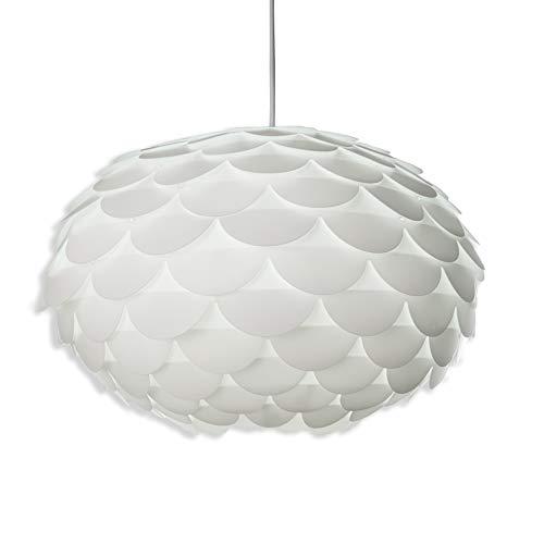 B.K.Licht I Hängelampe exkl. Leuchtmittel I max 60W E27 I Ø46cm I DIY Puzzle-Lampe I Esstisch-Lampe I Pendel-Lampe I Knospe I IP20