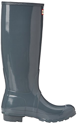 Hunter Original Tall Gloss, Bottes femme Grey (Graphite)