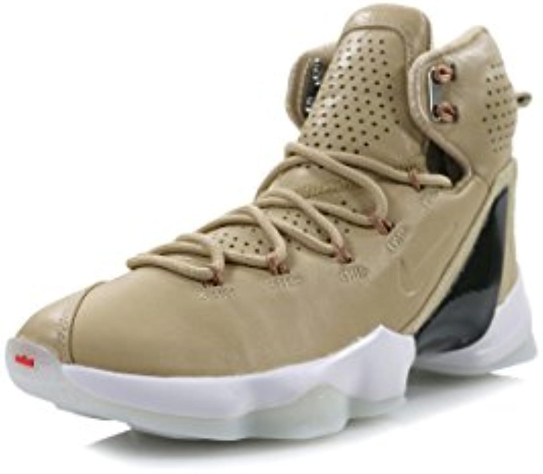 NIKE Lebron XIII Elite LB Mens Hi Top Basketball Trainers 876805 Sneakers Shoes (US 9  Linen Multi 299)