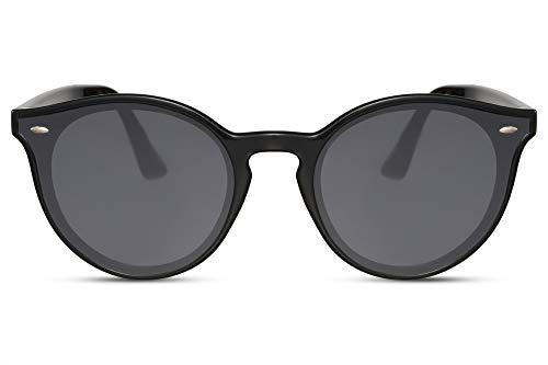 Cheapass Sunglasses Sonnenbrille rund schwarz Gläser eckige Form Retro UV 400 Frauen