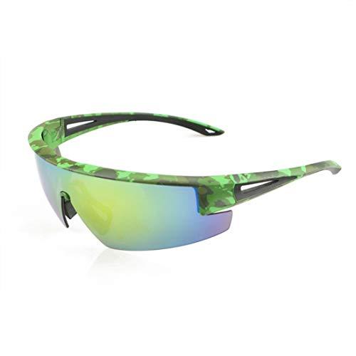 UZZHANG Polarisierte Sport-Sonnenbrille für Baseball-Radfahrenfischen-Golf-superleichtem Rahmen UV400 (Farbe : Grün) Vision Lighting Sales