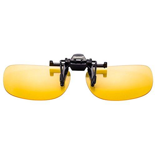 Produktbild One-piece Sonnenbrillen-Clip Polarisierende Flip UpUV 400 Sonnenbrille Brillen Aufsatz Clipon Clip On's Brille SonnenbrillenSonnenclips,Clips zum Autofahren bei Nacht