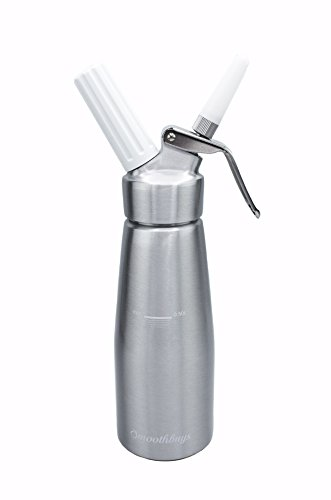 Sifón de crema dispensador de nata montada-Cuerpo y Cabeza de aluminio-500ml-3boquillas...