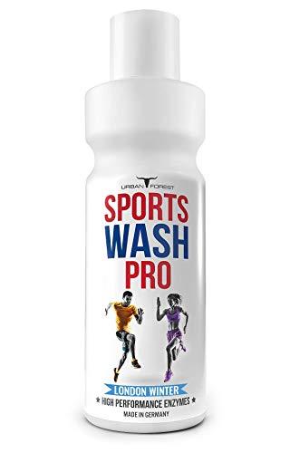 Waschmittel für Sportbekleidung | Wäschepflege als flüssiges Waschmittel | Mikrofaser Waschmittel für Feinwäsche & Vollwäsche geeignet | SPORTS WASH PRO von URBAN FOREST (1L) (LONDON WINTER)